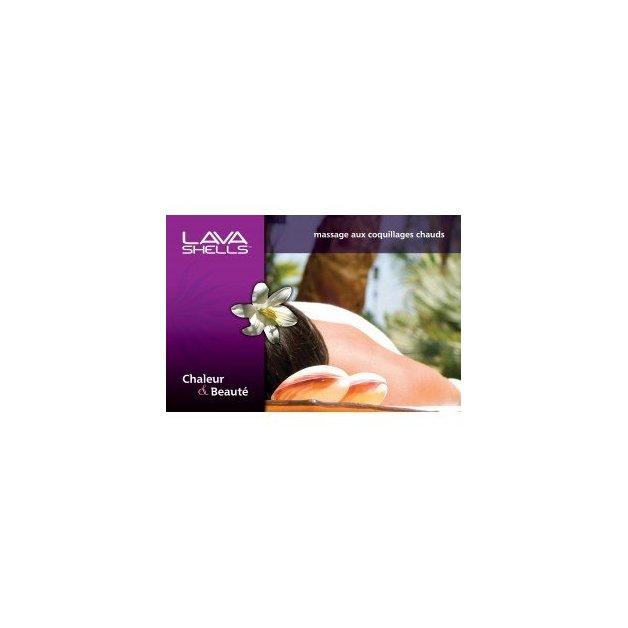 Affiche massage aux coquillages - Mains
