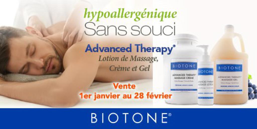 Promotion sur tous les produits Biotone Advanced Therapy jusqu'au 28 février 2021!